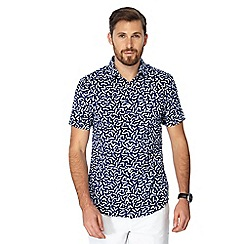 J by Jasper Conran - Blue printed short sleeve shirt