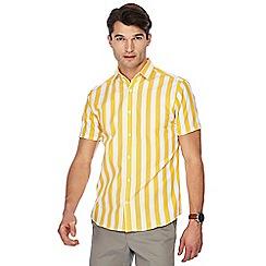 J by Jasper Conran - Yellow bold stripe print short sleeve shirt