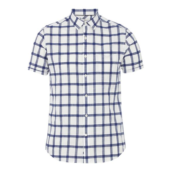tall and fit Big regular Jasper short Conran shirt sleeve navy J by checked paxIPwXTq