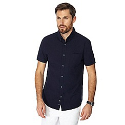 J by Jasper Conran - Navy seersucker short sleeve shirt