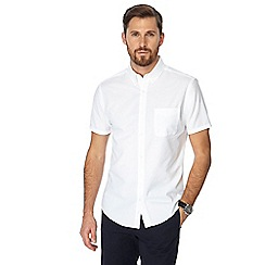 J by Jasper Conran - Big and tall white seersucker short sleeve shirt