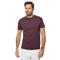 J by Jasper Conran - Dark orange stripe print crew neck t-shirt