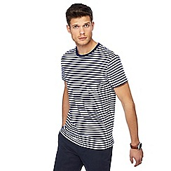 J by Jasper Conran - Big and tall royal blue stripe print crew neck t-shirt