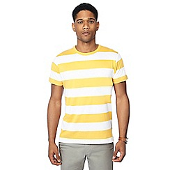 J by Jasper Conran - Yellow block stripe crew neck t-shirt