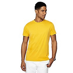 J by Jasper Conran - Big and tall yellow crew neck t-shirt