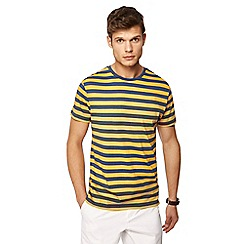 J by Jasper Conran - Big and tall yellow breton stripe crew neck t-shirt