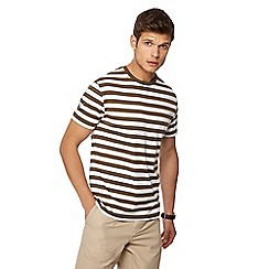 J by Jasper Conran - Big and tall olive breton stripe crew neck t-shirt