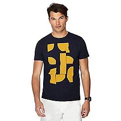 J by Jasper Conran - Navy printed t-shirt