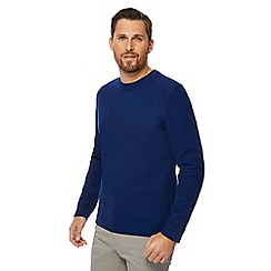 J by Jasper Conran - Blue textured sweater