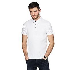 J by Jasper Conran - White Supima cotton polo shirt