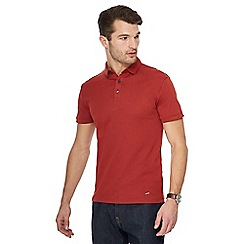 J by Jasper Conran - Big and tall dark orange polo shirt