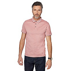 J by Jasper Conran - Big and tall dark pink tonal polo shirt