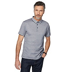 J by Jasper Conran - Grey tonal polo shirt