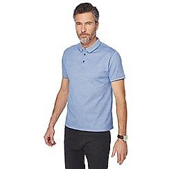 J by Jasper Conran - Blue tonal polo shirt