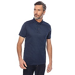 J by Jasper Conran - Dark blue mini birdseye polo shirt