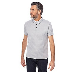 J by Jasper Conran - Pale Grey mini birdseye polo shirt