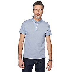 J by Jasper Conran - Blue mini triangle textured polo shirt