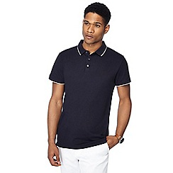 J by Jasper Conran - Big and tall navy tipped polo shirt