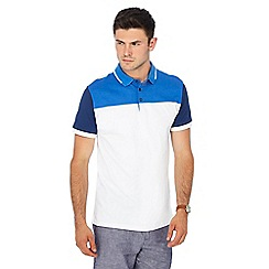 J by Jasper Conran - Big and tall blue and white polo shirt