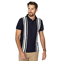 J by Jasper Conran - Big and tall navy vertical stripe slim fit polo shirt