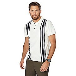 J by Jasper Conran - White vertical stripe polo shirt