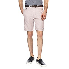 J by Jasper Conran - Big and tall pale pink linen blend regular fit shorts