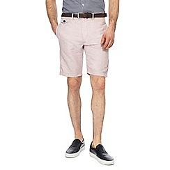 J by Jasper Conran - Pale pink linen blend regular fit shorts