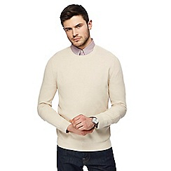 J by Jasper Conran - Natural textured crew neck jumper