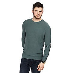 J by Jasper Conran - Light olive textured crew neck jumper