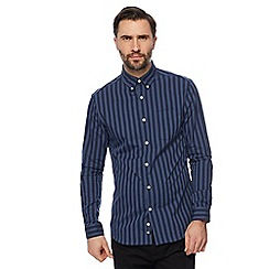 J by Jasper Conran - Big and tall navy striped tonal shirt