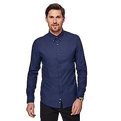 J by Jasper Conran - Big and tall blue marl Oxford shirt