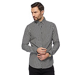 J by Jasper Conran - Big and tall black and white striped shirt