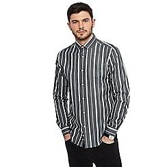 J by Jasper Conran - Grey striped long sleeve shirt