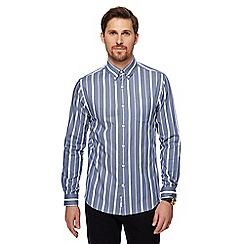 J by Jasper Conran - Blue striped long sleeve shirt