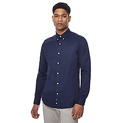 J by Jasper Conran - Navy linen blend twill shirt
