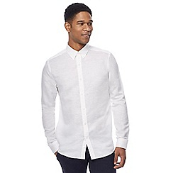 J by Jasper Conran - White linen blend twill shirt