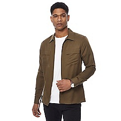 J by Jasper Conran - Big and tall khaki utility shirt jacket