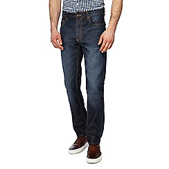 J by Jasper Conran - Big and tall mid blue dark wash denim slim fit jeans