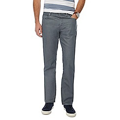 J by Jasper Conran - Dark grey denim straight fit jeans