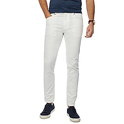 J by Jasper Conran - Big and tall white slim fit jeans