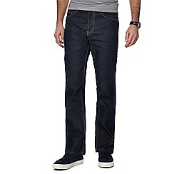 J by Jasper Conran - Big and tall dark blue dark wash straight fit jeans