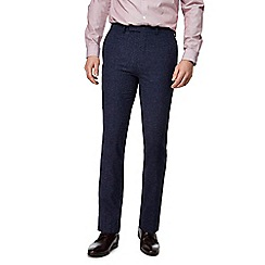 J by Jasper Conran - Blue textured smart trousers
