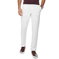 J by Jasper Conran - Big and tall white 'ottoman' straight fit chino trousers