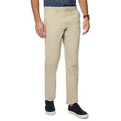 J by Jasper Conran - Big and tall natural 'ottoman' straight fit chino trousers
