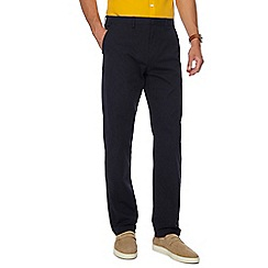 J by Jasper Conran - Big and tall navy slim fit chino trousers