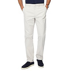 J by Jasper Conran - Big and tall off white slim fit chino trousers
