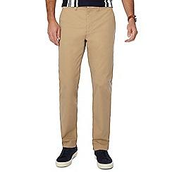 J by Jasper Conran - Big and tall natural slim fit chino trousers
