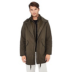 J by Jasper Conran - Khaki 3 in 1 shower resistant parka