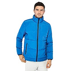 J by Jasper Conran - Blue quilted duck down jacket