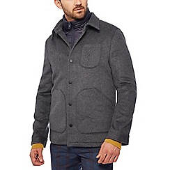 J by Jasper Conran - Grey 3-in-1 jacket with wool